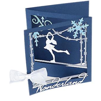 Sizzix Thinlits Dies By Lindsey Serata-Ice Skater Tri-Fold Card 661558