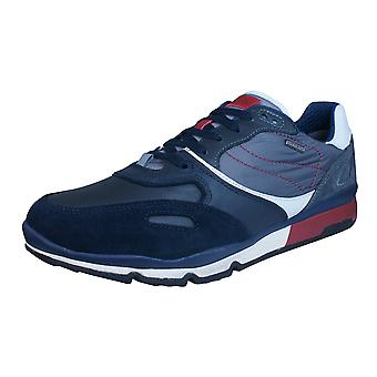Geox U Sandro B Abx A Mens Waterproof Trainers / Shoes  - Navy Blue