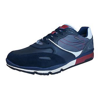 Geox U Sandro B Abx A Mens waterdicht Trainers / schoenen - Navy blauw