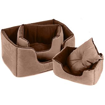 Chelsea Comfy Bed Chocolate Size 1 51x35cm
