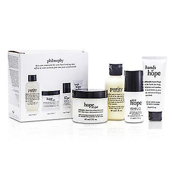 Philosophy Hope for the Best Coffret: Cleasner 60ml/2oz + Mositurizer 60ml/2oz + Eye Cream 15ml/0.5oz + Hand Cream 30ml/1oz - 4pcs