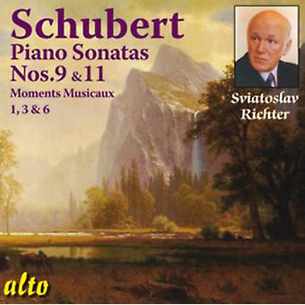 Schubert: Piano Sonatas Nos. 9 And 11/Moments Musicaux 1 3 And 6 by Sviatoslav Richter