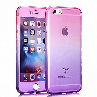 Crystal case cover for Samsung Galaxy S8 plus Pink Purple frame full body