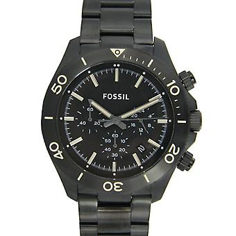 Fossil men's watch wristwatch stainless steel XL retro traveler CH2915