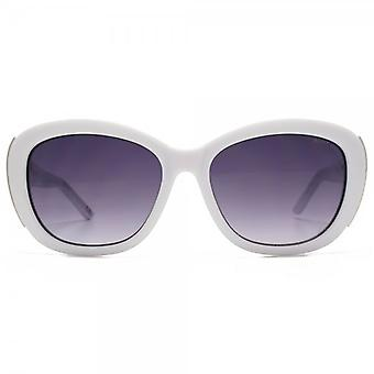 Kurt Geiger Rose Small Glamour Sunglasses In White