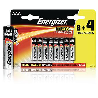 Energizer Alkaline Battery AAA 1.5 V Max 12Promotional Blister