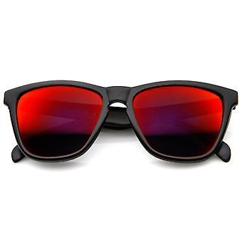 Action Sports Color Mirror Lens Modified Horn Rimmed Sunglasses