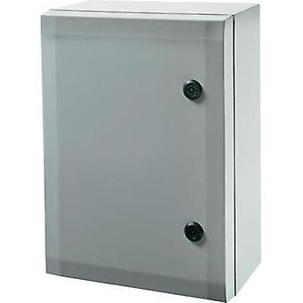 Wall-mount enclosure, Build-in casing 400 x 300 x 210 Polycarbonate (PC) Grey