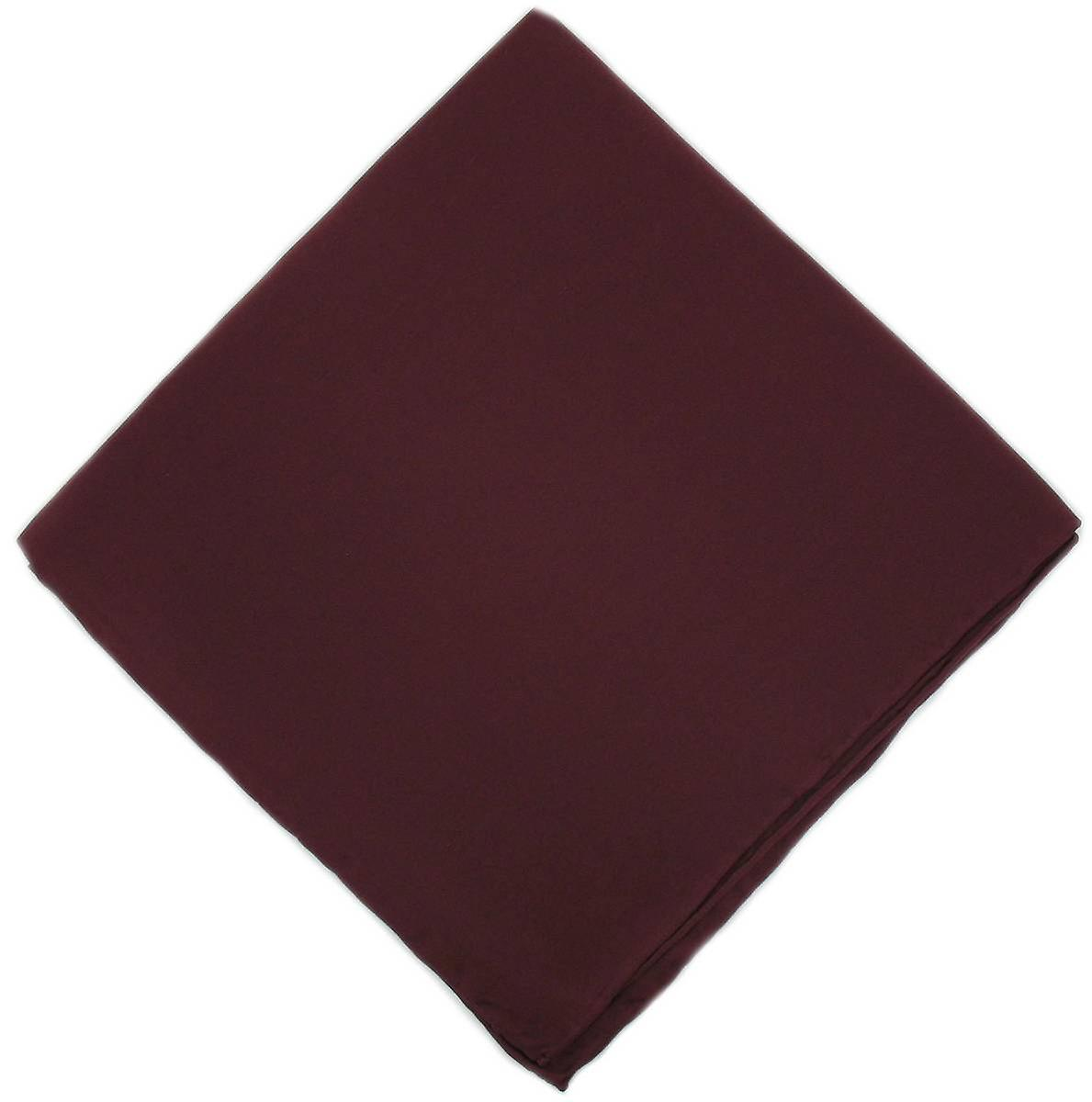 Michelsons of London Plain Silk Handkerchief - Wine Red
