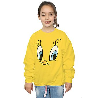 Looney Tunes Girls Tweety Pie Face Sweatshirt