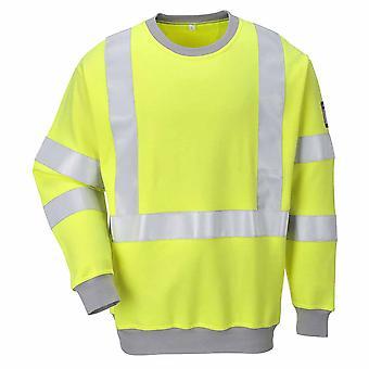 Portwest - flammen motstandsdyktig sikkerhet Workwear antistatisk Hi-Vis Sweatshirt
