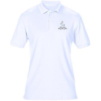 Drottningarna äger Royal West Kent regementet broderad Logo - officiella brittiska armén Mens Polo Shirt
