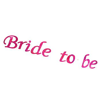 "Hen Night Flashing ""Bride To Be"" White Sash With Pink Print Hen Party Accessory"