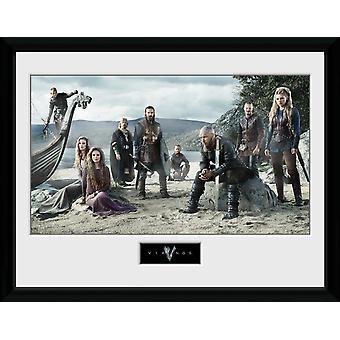 Vikingene stranden samler Print
