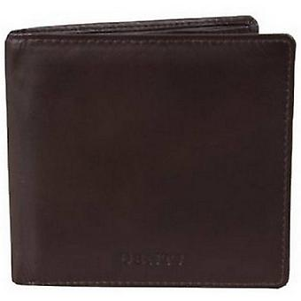 Dents Leather Credit Card Bill-Fold Wallet - Chocolate Brown