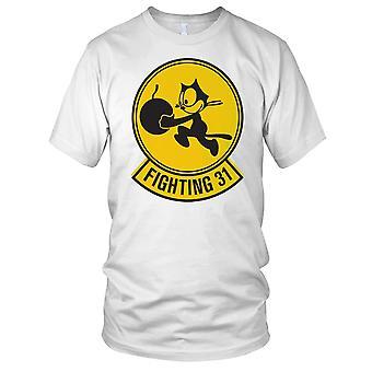 US Navy Strikeforce vechten 31 Tomcatters schoon Effect Mens T Shirt