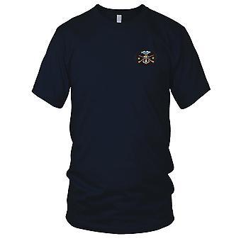 US Armee - 2. Bataillon des 60. Infanterie-Regiments gestickt Patch - Kampf gegen Infanterie Abzeichen große Herren-T-Shirt