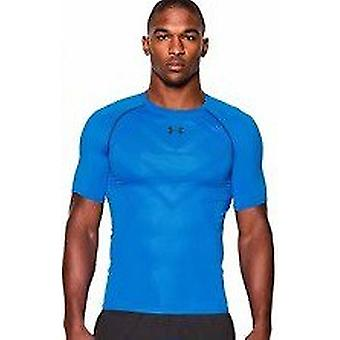 Under Armour Herren Kompressions-T-Shirt HeatGear® ArmourVent™ shortsleeve color blue Jet