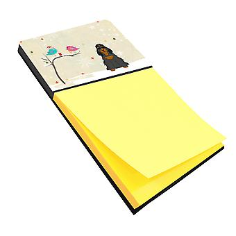 Christmas Presents between Friends Cocker Spaniel Black Tan Sticky Note Holder
