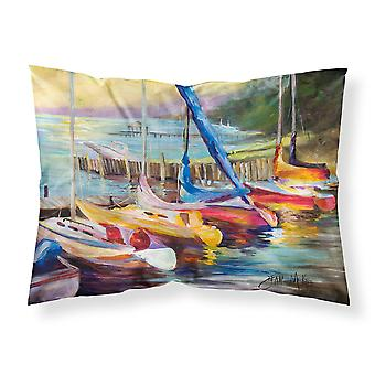 Sailboats at sunset Fabric Standard Pillowcase