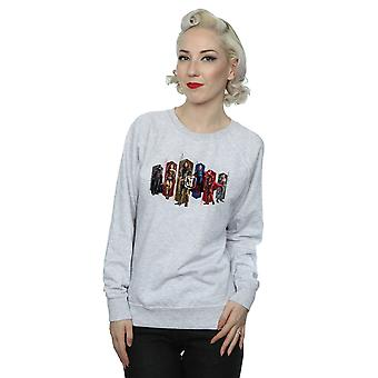 DC Comics kvinnors Justice League film Team hexagoner Sweatshirt
