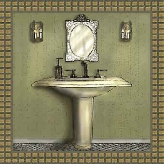 Badet i grønne III Poster trykk av Lenny Karcinell (12 x 12)