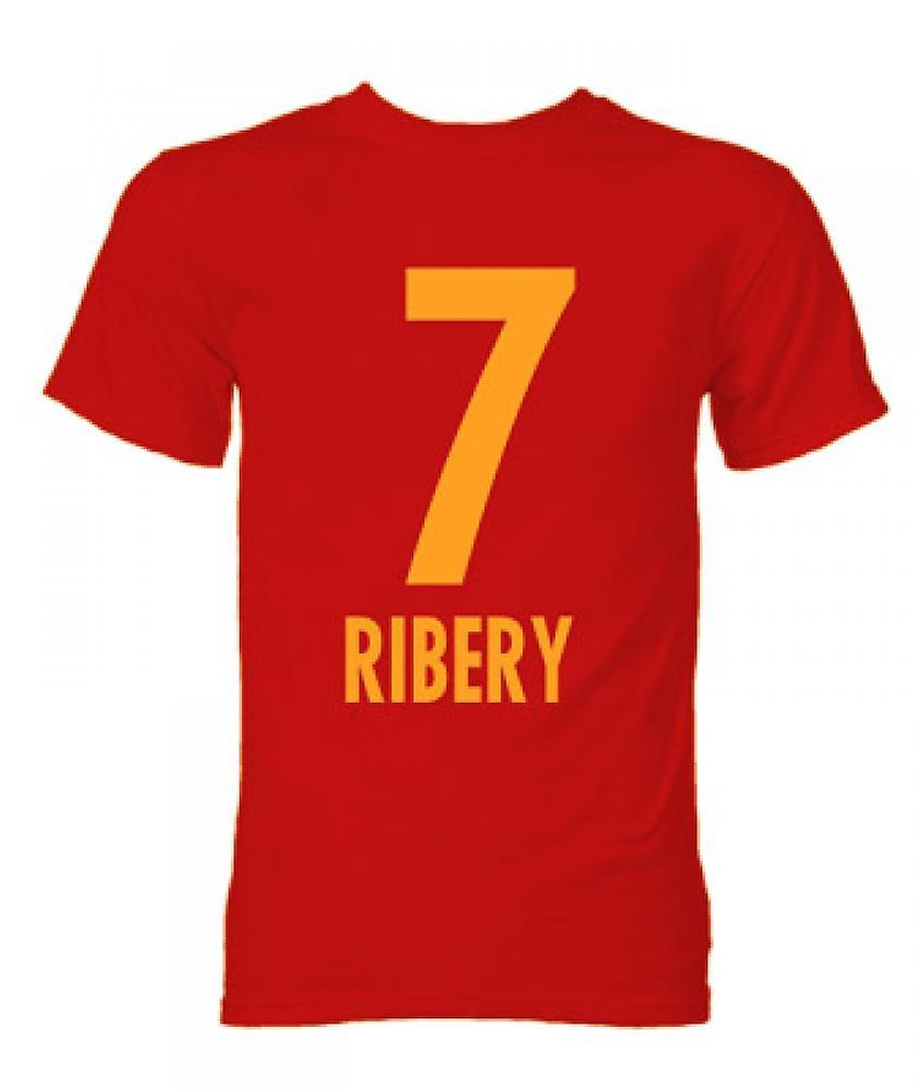 Franck Ribery Bayern München Hjälte T-tröja (Röd)