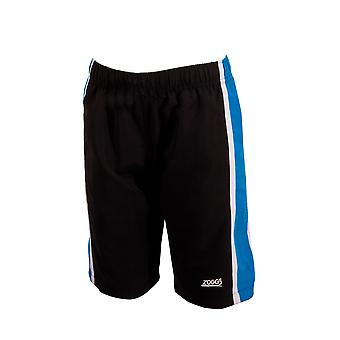 Zoggs Junior Boy's Muriwai Swimming Shorts Black/Blue for 6-15 Years Children