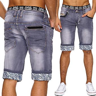 Men's jeans pants Acidwashed classic shorts denim new summer Stretchbund Capri