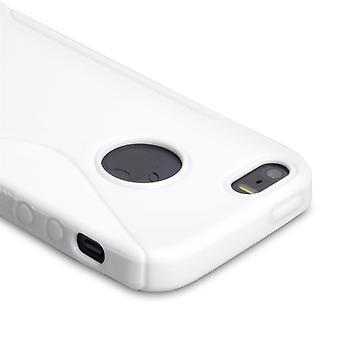 Caseflex Iphone SE S-Line Gel Case - White