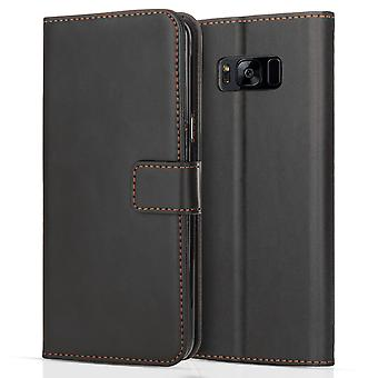 Yousave Accessories Samsung Galaxy S8 Plus Leather Effect Stand Wallet - Black