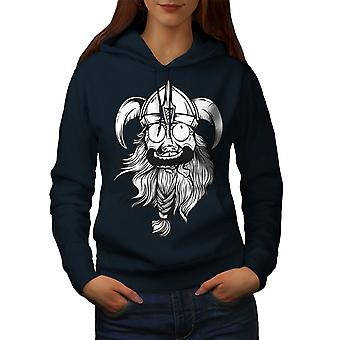 Crazy North Joke Women NavyHoodie | Wellcoda