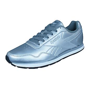 Reebok Classic Royal Glide Womens Leather Trainers / Shoes - Silver