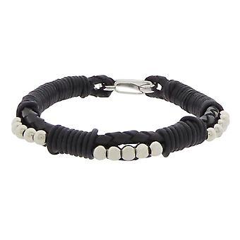 Christian Black Leather Bracelet