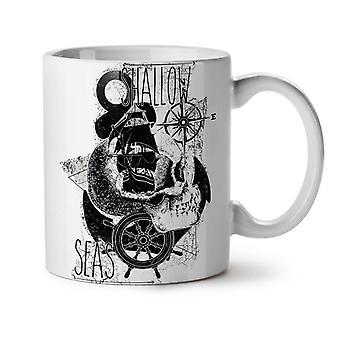 Pirate Shallow Sea NEW White Tea Coffee Ceramic Mug 11 oz | Wellcoda