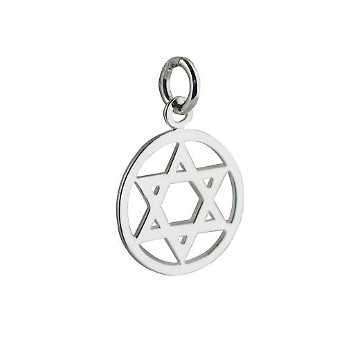 Silver 16mm plain Star of David pendant
