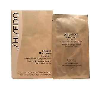 Shiseido Benefiance Pure Retinol Face Mask 4 Pcs Womens New