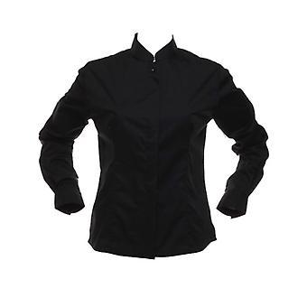 Kustom Kit Ladies Bar Blouse Mandarin Collar Long sleeve shirt