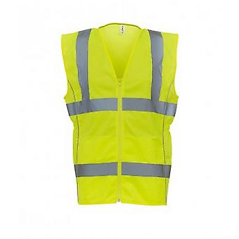 Yoko Womens/Ladies Hi-Vis Executive Waistcoat