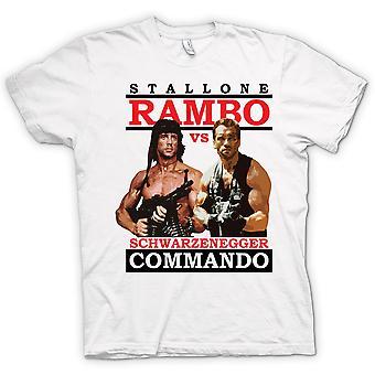 Mens T-shirt - Rambo Or Commando - Action - Hero