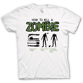 Mens T-shirt - How To Kill A Zombie - Funny