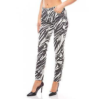 Print pants Safari print black and white B.C.. best connections