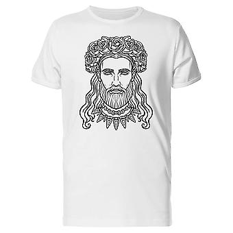 Man With A Wreath Of Roses Tee Men's -Image by Shutterstock