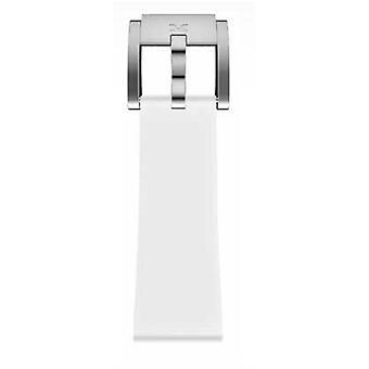 TW Steel Marc Coblen Bracelet Watch band silicone 22 MM white SB_W_S