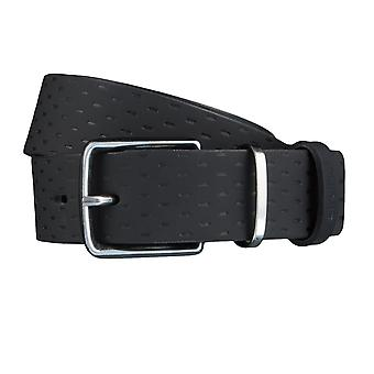 Strellson belts men's belts leather leather belt black 3820