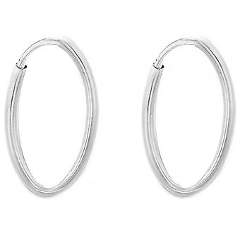 IBB London Hoop Earrings - Silver