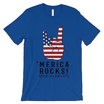 Merica rockt T-Shirt Herren Königsblau 4. Juli Veteran Mann Geschenk