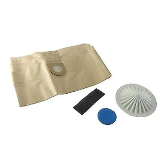 VAX aspiradora polvo bolsas de papel x 10 y sistema de filtro