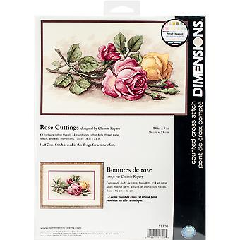 Rose Cuttings Counted Cross Stitch Kit-14