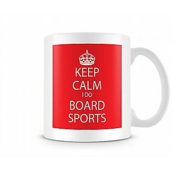 Keep Calm I Do Board Sports Printed Mug